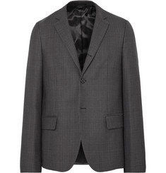 Acne Studios Grey Orleans Prince of Wales Checked Woven Suit Jacket