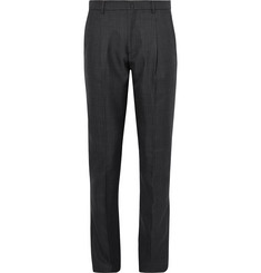 Acne Studios Boston Slim-Fit Pleated Prince of Wales Checked Woven Trousers