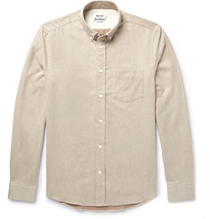Acne Studios Isherwood Button-Down Collar Brushed-Cotton Twill Shirt