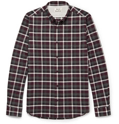 Acne Studios - Isherwood Button-Down Collar Checked Cotton-Flannel Shirt