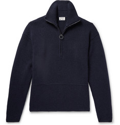 Acne Studios Neptune Ribbed Wool-Blend Half-Zip Sweater