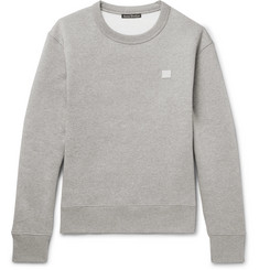 Acne Studios Fairview Mélange Fleece-Back Cotton-Jersey Sweatshirt