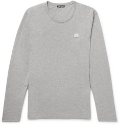 Acne Studios Nash Mélange Cotton-Jersey T-Shirt