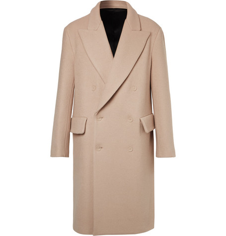 Rover Double-breasted Wool Coat - Cream