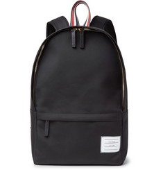 Thom Browne - Pebble-Grain Leather-Trimmed Nylon Backpack