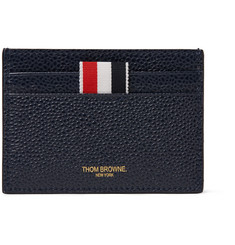 Thom Browne Striped Pebble-Grain Leather Cardholder