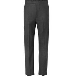 Favourbrook Grey Textured-Wool Suit Trousers