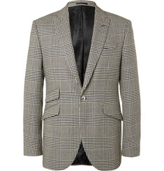 Favourbrook Black Hertford Prince of Wales Checked Wool Suit Jacket