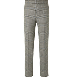 Favourbrook Black Prince of Wales Checked Wool Suit Trousers