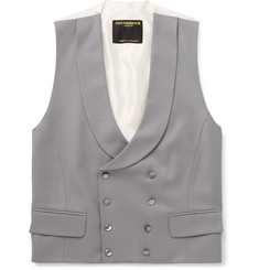 Favourbrook Double-Breasted Textured-Wool Waistcoat