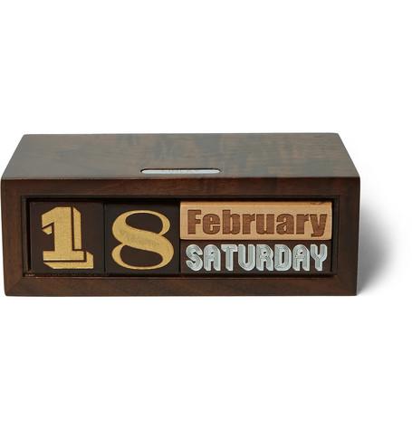Linley The Constant Wooden Calendar In Brown