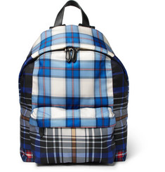 Givenchy - Leather-Trimmed Checked Coated-Canvas Backpack