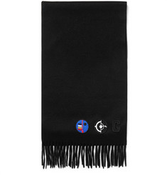 Givenchy - Appliquéd Fringed Wool and Angora-Blend Scarf