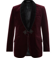 Favourbrook Two-Tone Grosvenor Slim-Fit Cotton-Velvet Tuxedo Jacket