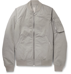 Rick Owens Cotton-Blend Faille Bomber Jacket
