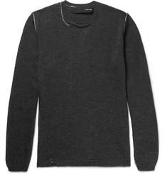 Isabel Benenato - Patchwork Merino Wool Sweater