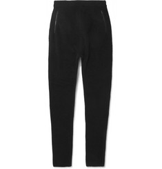 Isabel Benenato Slim-Fit Nubuck-Trimmed Wool and Yak-Blend Sweatpants
