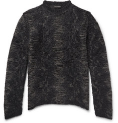 Isabel Benenato Distressed Open-Knit Sweater