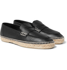Loewe - Full-Grain Leather Espadrilles