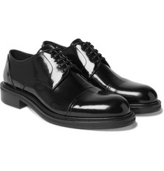 Loewe - Cap-Toe Polished-Leather Oxford Shoes