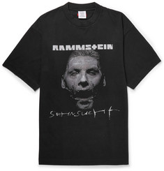 Vetements - + Rammstein Oversized Printed Cotton-Jersey T-Shirt