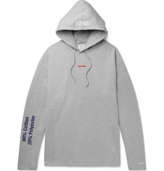 Vetements - Embroidered and Printed Loopback Cotton-Blend Jersey Hoodie