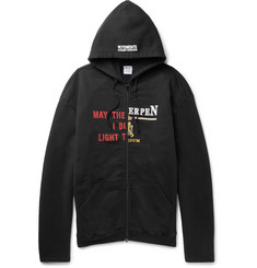 Vetements - Printed Loopback Cotton-Blend Jersey Zip-Up Hoodie