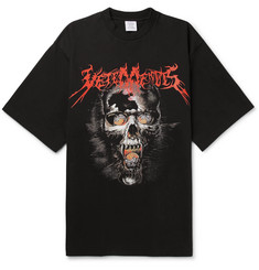 Vetements - Printed Cotton-Jersey T-Shirt