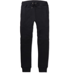 Balmain Slim-Fit Tapered Fleece-Back Cotton-Jersey Sweatpants