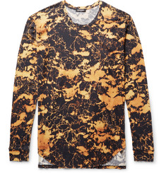 Balmain Slim-Fit Bleached Cotton-Jersey T-Shirt