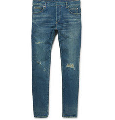 Balmain Skinny-Fit Distressed Denim Jeans