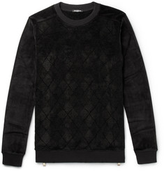 Balmain Zip-Detailed Velvet Sweater