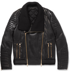 Balmain - Quilted Leather Biker Jacket