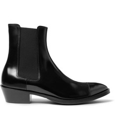 Berluti Heith Austin Glossed-Leather Chelsea Boots
