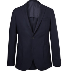 Hugo Boss - Navy Nelven Virgin Wool Travel Blazer