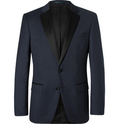 Hugo Boss - Navy Hence Slim-Fit Super 120s Virgin Wool Tuxedo Jacket