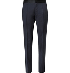 Hugo Boss - Navy Slim-Fit Gilian Super 120s Virgin Wool Tuxedo Trousers