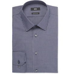 Hugo Boss - Navy Enzo Grid-Checked Cotton Shirt