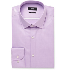 Hugo Boss - Purple Jerris Slim-Fit Cotton-Twill Shirt