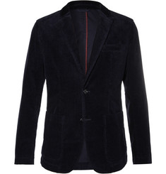 Hugo Boss - Navy Slim-Fit Stretch-Cotton Corduroy Blazer