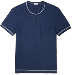 Dolce & Gabbana - Stretch-Cotton Jersey Henley T-Shirt