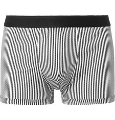 Dolce & Gabbana Striped Cotton-Jersey Boxer Briefs