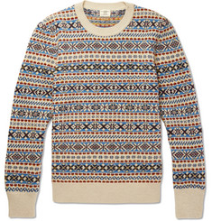 Kent & Curwen Fair Isle Wool, Mohair and Silk-Blend Sweater