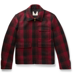 Kent & Curwen Checked Wool-Flannel Jacket