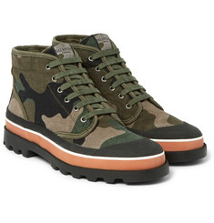 Valentino - Rubber-Trimmed Camouflage Canvas High-Top Sneakers