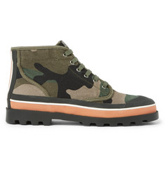 Valentino Rubber-Trimmed Camouflage Canvas High-Top Sneakers