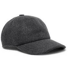 Berluti Leather-Trimmed Cashmere Baseball Cap