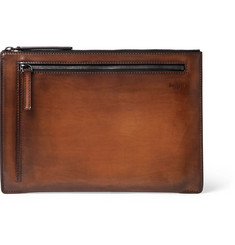 Berluti Band Polished Leather Pouch