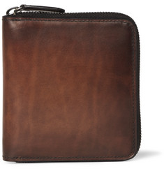 Berluti Kare Leather Zip-Around Wallet