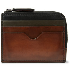 Berluti Koa Logic Zip-Around Polished-Leather Cardholder